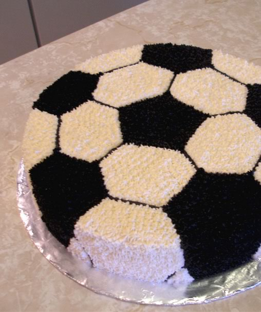 Cake With Ball Design : Soccer Ball Pattern Cake Ideas and Designs